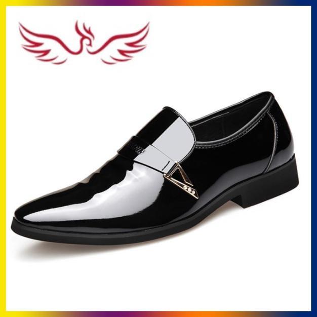 Giày Tây Nam Công Sở Thanh Lich Màu Đen AeShin - Q17 giá rẻ