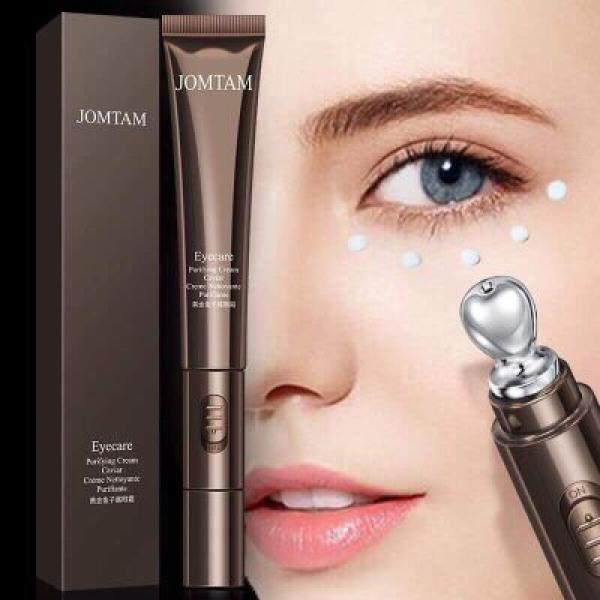 Máy kèm kem massage mắt cải thiện bọng mắt và làm mờ thâm quầng mắt JOMTAM