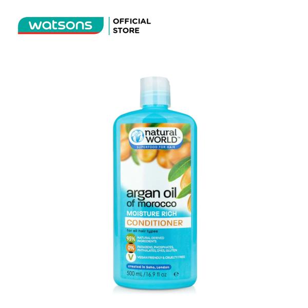 Dầu Xả Natural World Argan Oil Of Morocco Chiết Xuất Từ Dầu Argan Giúp Dưỡng Ẩm 500ml