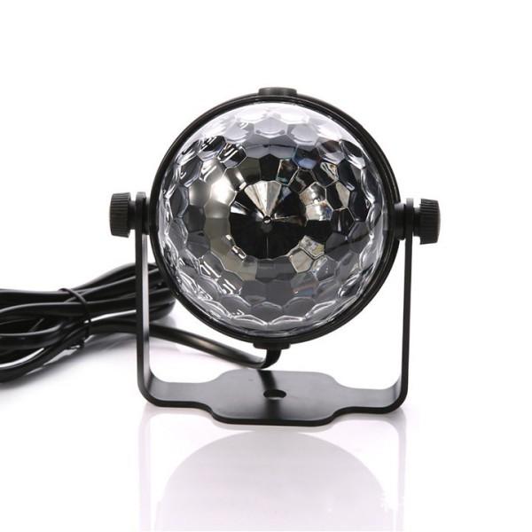 Đèn led mini 3W tạo hiệu ứng ánh sáng cho sàn nhảy - party- karaoke -cảm ứng ánh sáng DJ xoay