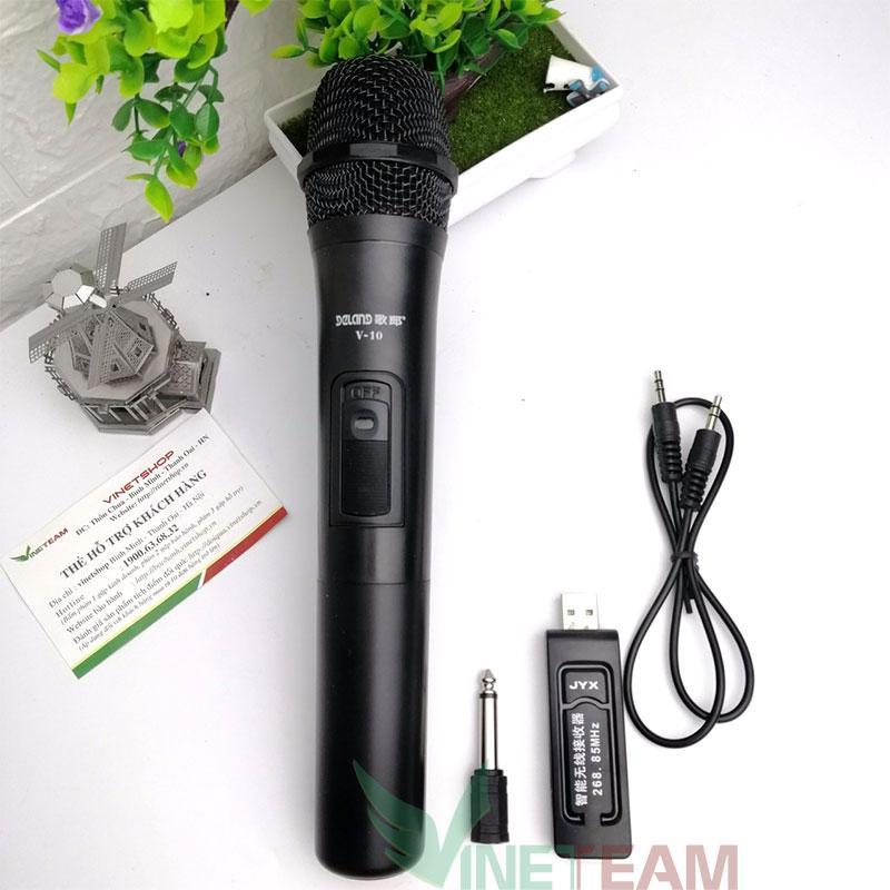 Micro không dây, Mic Bluetooth, Mic karaoke Aige V10 cho loa kéo, loa kẹo kéo, loa không dây, Mic đa năng