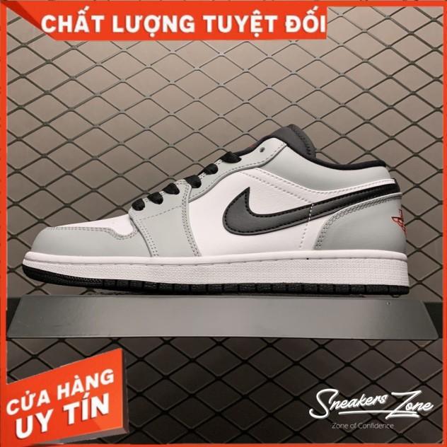 (FREESHIP+HỘP+QUÀ) Giày Thể Thao AIR JORDAN 1 Low Light Smoke Grey Xám Trắng Cực đẹp Dành Cho Cả Nam Và Nữ giá rẻ