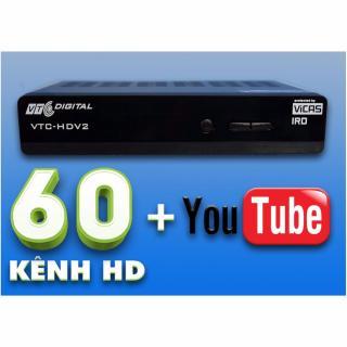 Đầu Thu VTC HD V2 (Có 4 Tháng Thuê Bao) Dùng Chảo,Kết Nối Youtube thumbnail