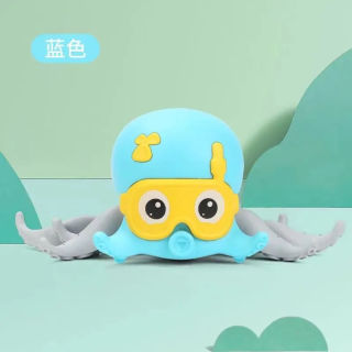 Internet Celebrity Leash Water and Land Dual-Use No Electricity Octopus Walking Octopus Water Toys Baby Bath Bathroom Small Octopus Toys thumbnail