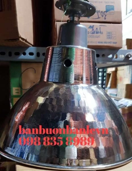 Chao đèn kèm đui chịu nước 30cm kiểu dáng công nghiệp