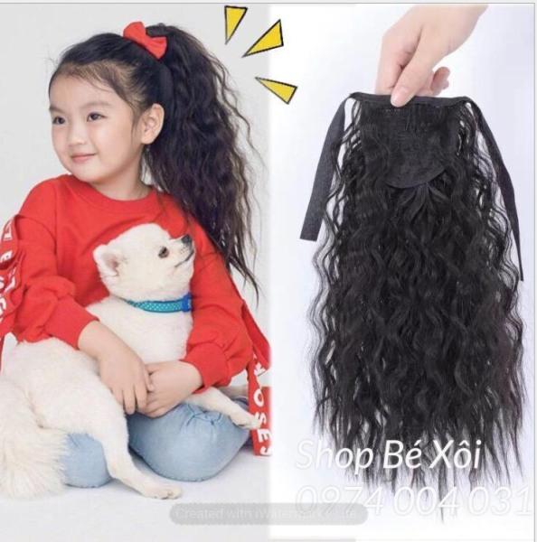 [HÀNG MỚI VỀ] Cột tóc giả cho bé xoăn xù, tóc cột cho bé - 3 mầu