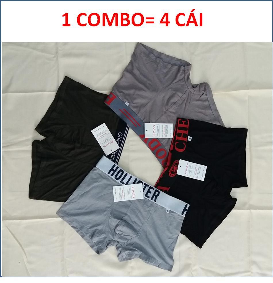 COMBO 4 QUẦN SỊP ĐÙI, QUẦN LÓT ĐÙI NAM, QUẦN BOXER NAM COTTON- HÀNG VN   ( ẢNH THẬT) Nhật Bản