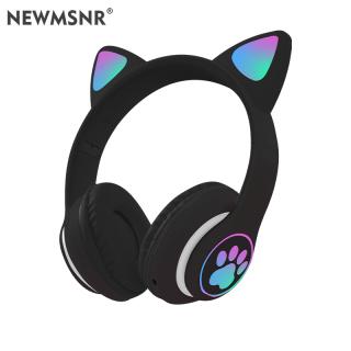 Tai Nghe Bluetooth Tai Mèo Đáng Yêu Newmsnr, Tai Nghe Phát Sáng Bluetooth 5.0, Tai Nghe Không Dây Âm Thanh Nổi, Âm Trầm, Chống Ồn, Tích Hợp Mic thumbnail