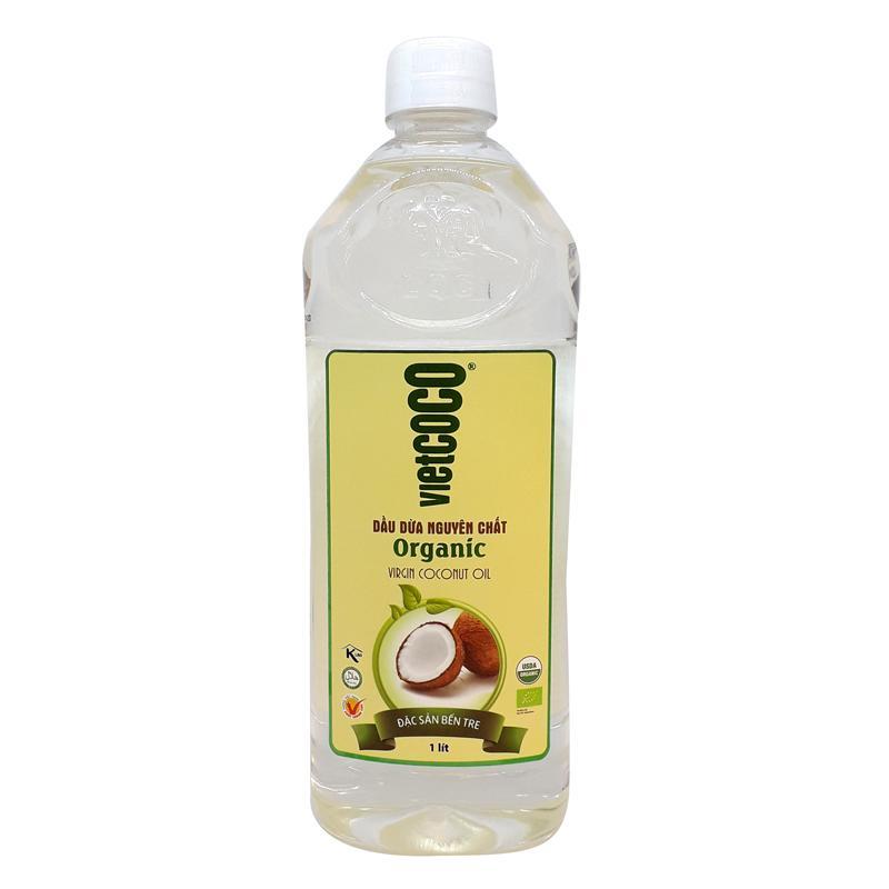 Dầu Dừa Nguyên Chất Organic Vietcoco chai 1lít tốt nhất