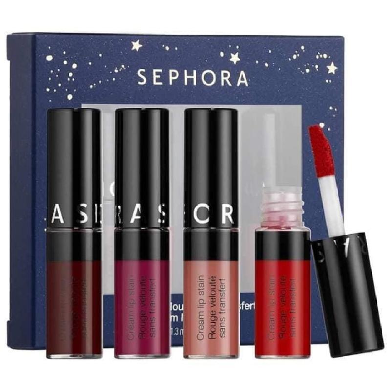 [SEPHORA] Set son kem Sephora Cream Lip Stain mini cao cấp
