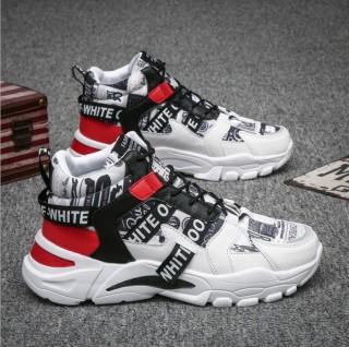 Giày cao cổ nam OFF phối màu nổi bật đế tăng chiều cao MINH HÀ - 380 thumbnail