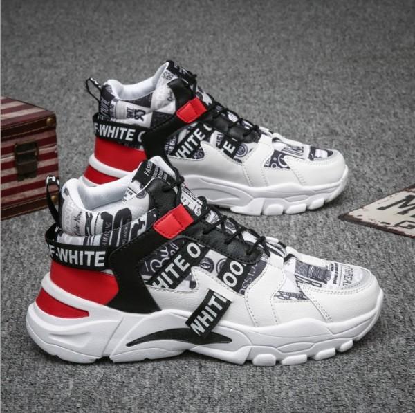 Giày nam thể thao, giày Sneaker nam Hàn Quốc cao cấp phối chữ SP - 330