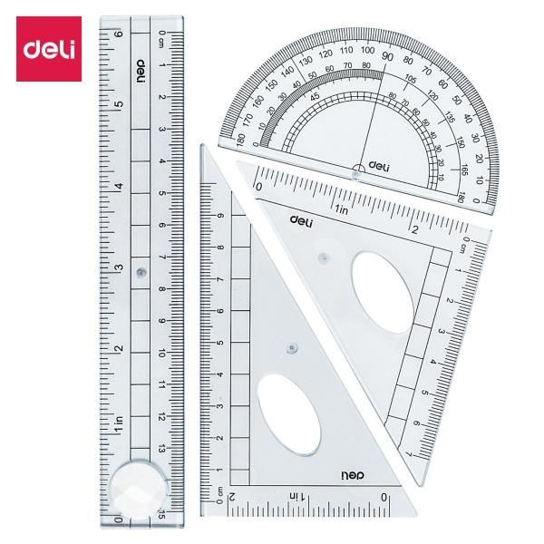 Mua Bộ dụng cụ học sinh Deli, 4 dụng cụ/hộp - E9597