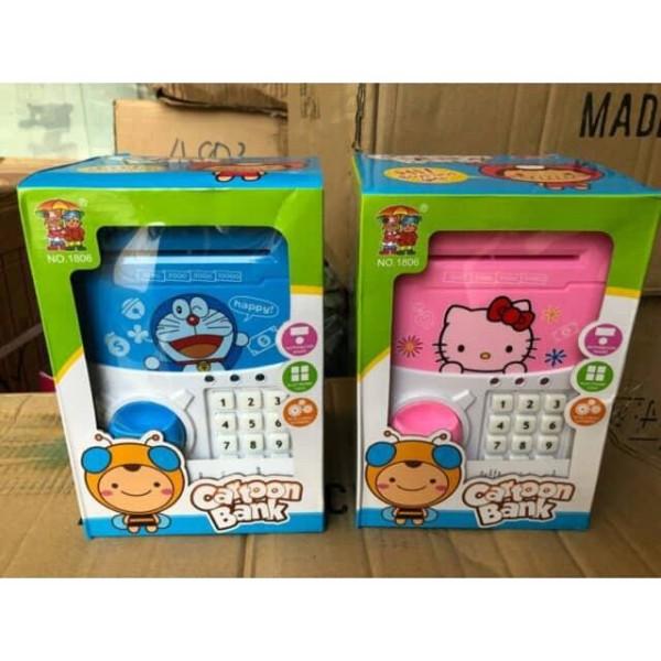 Két Sắt Đựng Tiền Mini Thông Minh Hình Doremon Và Hello Kitty