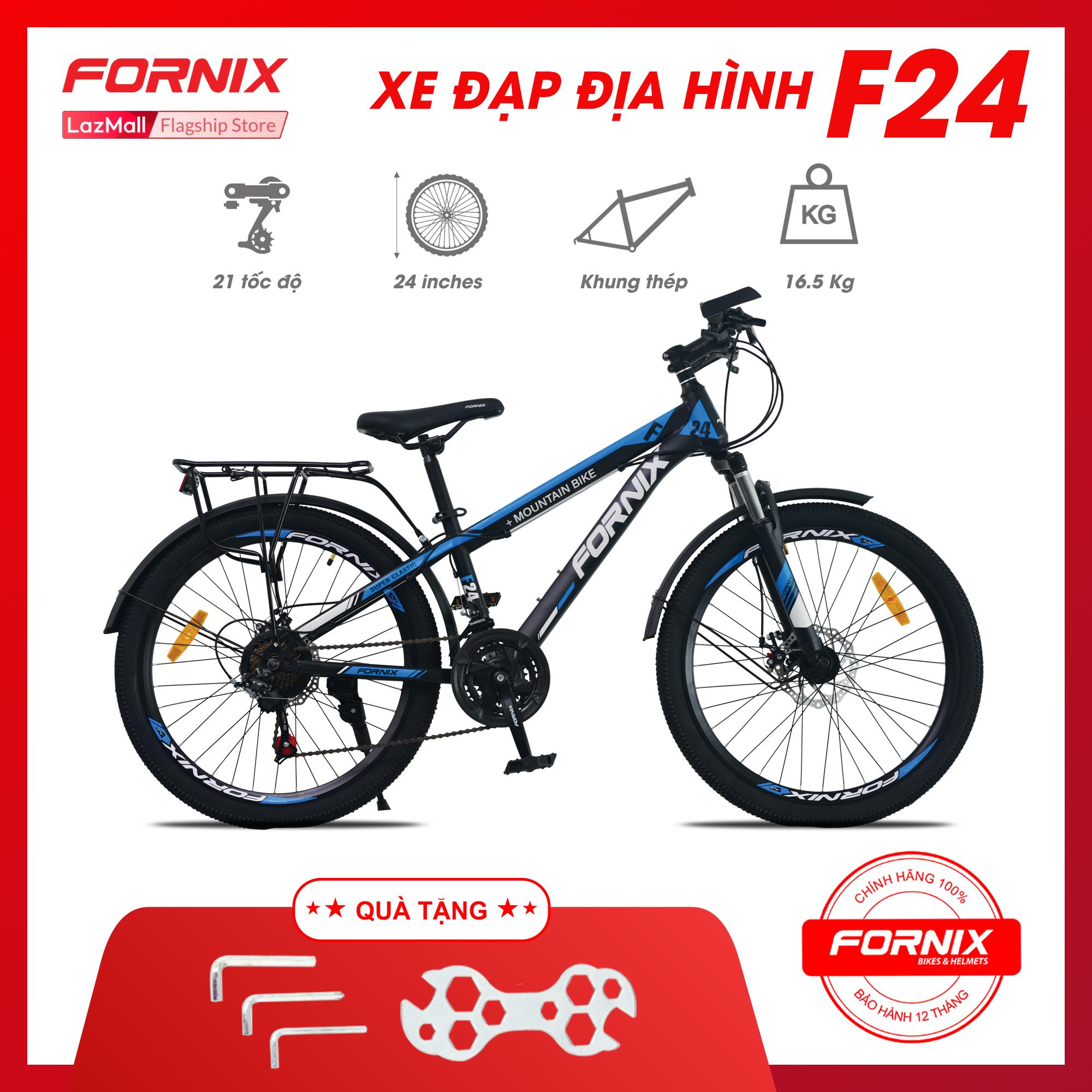 Mua Xe đạp địa hình thể thao Fornix F24 (KÈM SÁCH HƯỚNG DẪN LẮP RÁP)- Tặng Bộ lắp ráp - Bảo hành 12 tháng