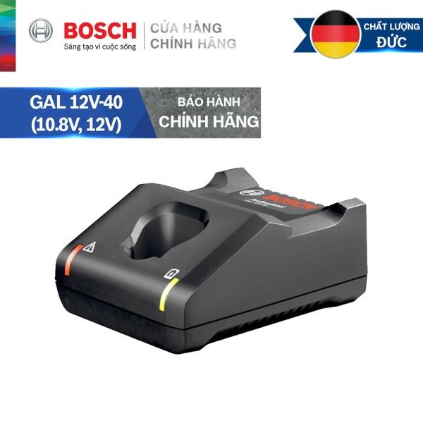 Đế sạc nhanh pin Bosch GAL 12V-40 (10.8V, 12V)