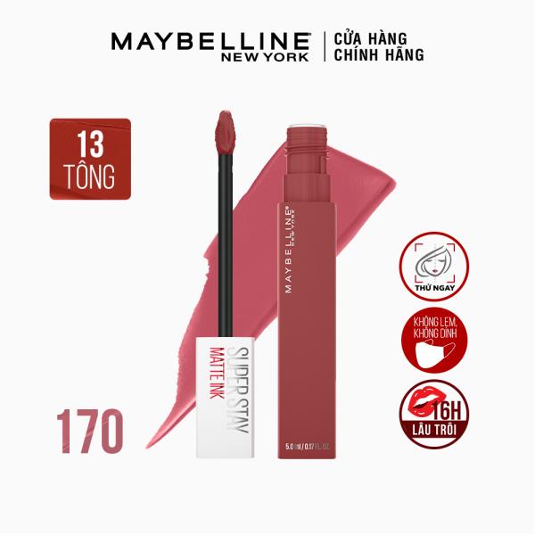 Son Kem Lì 16H Lâu Trôi Maybelline New York Super Stay Matte Ink City Edition Lipstick 5ml cao cấp