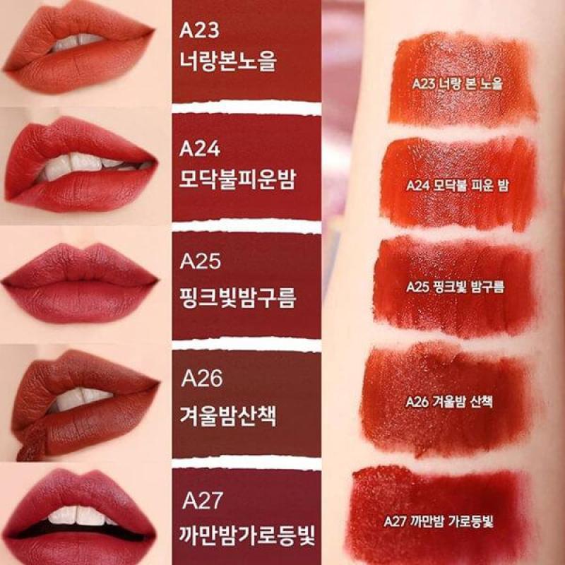 (Hàng có sẵn) Son Kem Black Rouge Airfit Velvet Ver.5 (A23, A24, A25, A26, A27) cao cấp