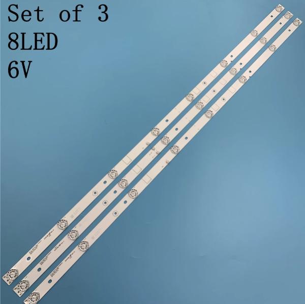 Bảng giá Asanzo 43EK7 (Cây giữa 2 socket) - Bộ 3 thanh 8 led 6v cho Tivi ASANO 43EK7 và một số dòng thông dụng Phong Vũ