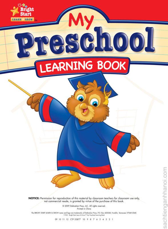 Cuốn Sách My Preschool Learning Book- Sách Gốc, Chất Lượng Cao- Sách Hay Cho Bé