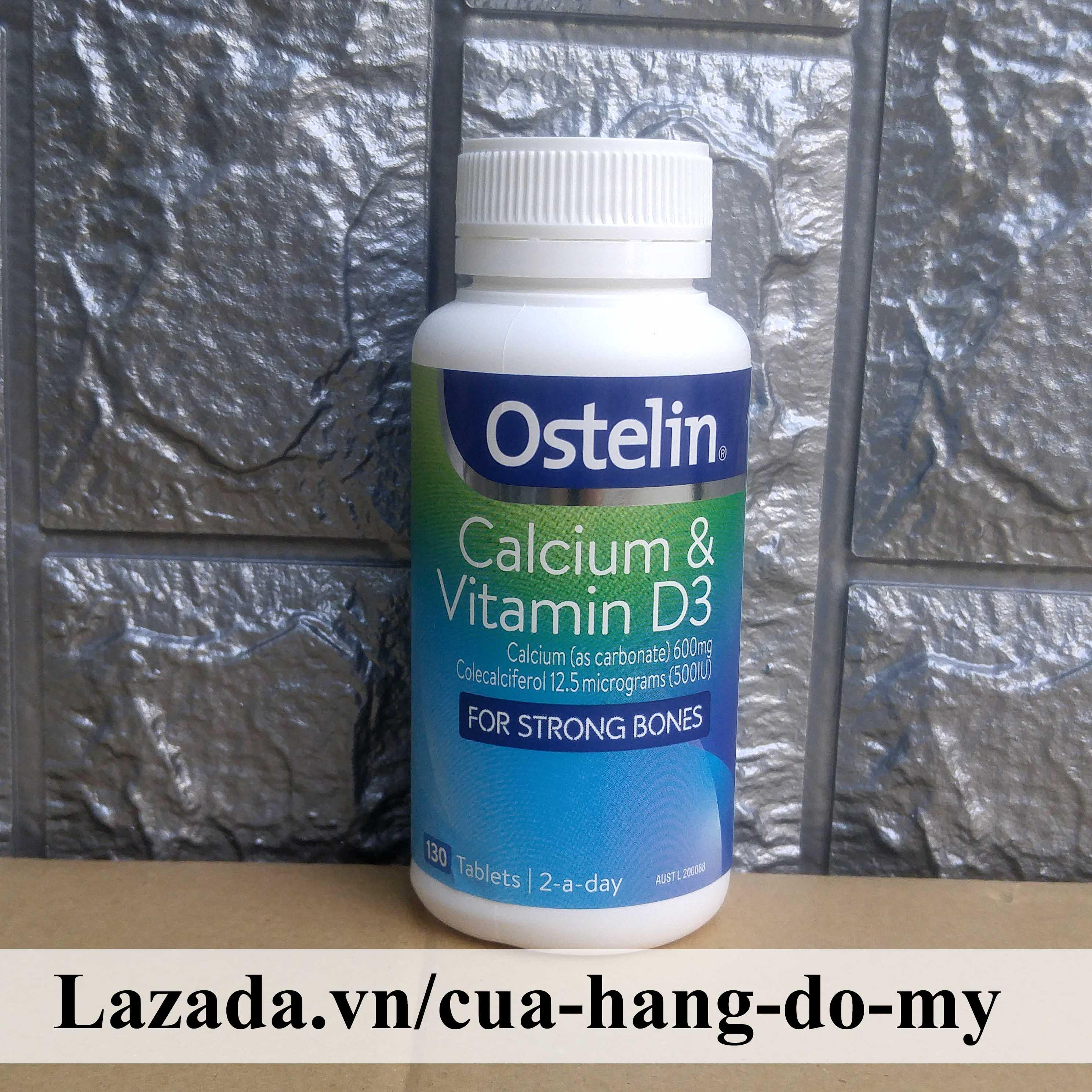 Viên uống Ostelin Canxi Calcium & Vitamin D3 Của Úc 130 viên - Ostelin Bổ sung canxi ngừa loãng xương cao cấp