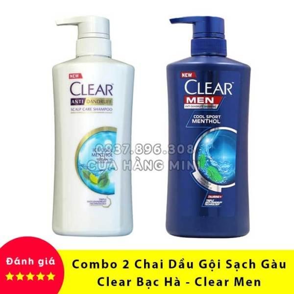 【SIÊU RẺ】 Combo 2 Chai Dầu Gội Đầu Sạch Gàu Clear Men - Clear Bạc Hà Thái Lan tốt nhất