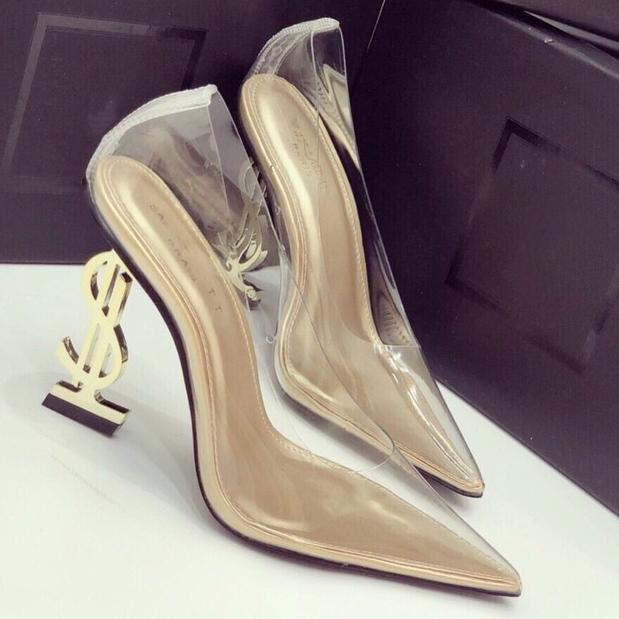 (Bảo Hành 12 Tháng) Giày Cao Gót Nữ Bít Mũi Trong Suốt Gót Chữ S Thời Trang - Giày Nữ Gót Cao 9cm - Giày Bít Mũi Mika Trong Cao Cấp - Linus LN160 Siêu Khuyến Mãi