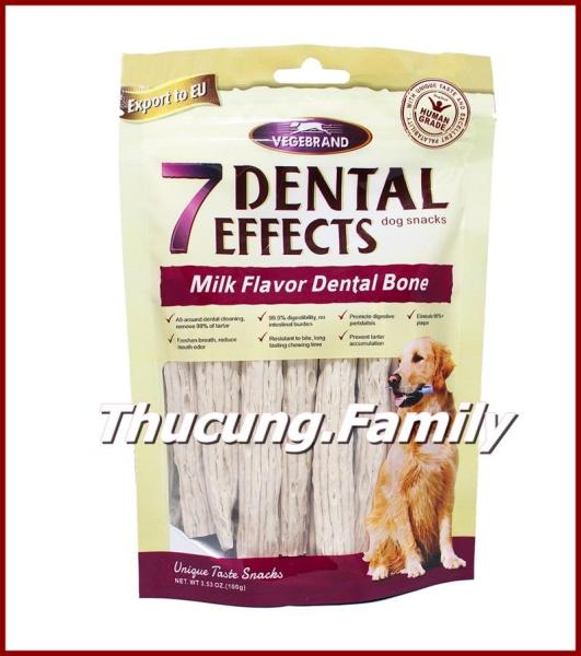 Xương nhai làm sạch răng cho hơi thở thơm tho. 7 Dental Effects- 100g/gói.