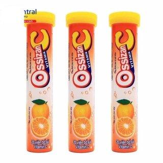 [Combo 3 tuyp] sủi vitamin Ossizan C vị cam giúp bổ sung năng lượng, tăng sức đề kháng, tăng sức bền thành mạch, giảm chảy máu chân răng do thiếu vitamin C thumbnail