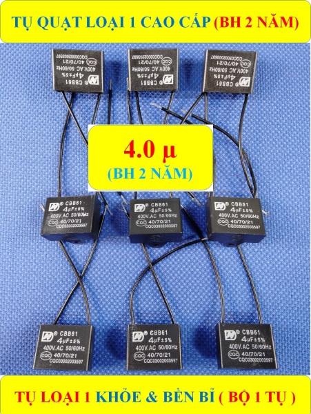 TỤ QUẠT 4 µF (BH 2 NĂM) TỤ LOẠI 1 CAO CẤP KHỎE & BỀN BỈ (bộ 1 sản phẩm)
