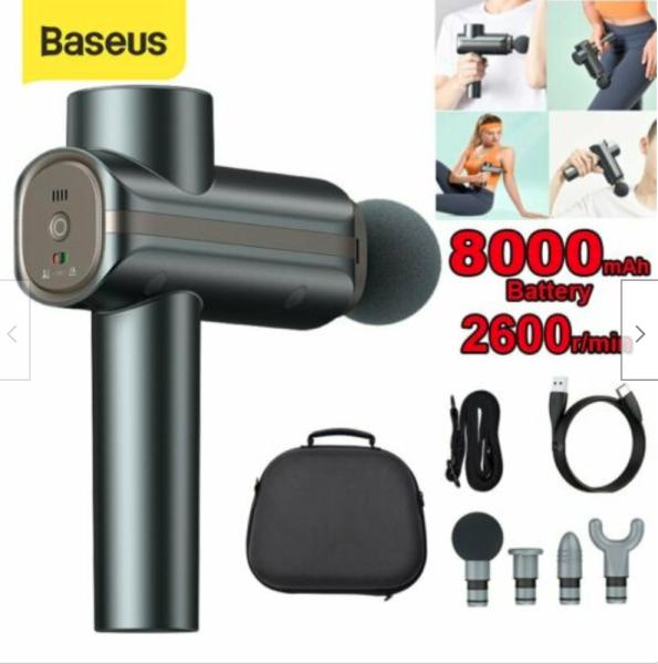 Bảng giá Máy massage toàn thân cầm tay Baseus tích điện 8000mAh khả năng làm việc vượt trội giúp giảm căng cơ cải thiện cơ bắp cho người sử dụng người già, vận động viên, dân văn phòng ( Baseus booster dual massage  )