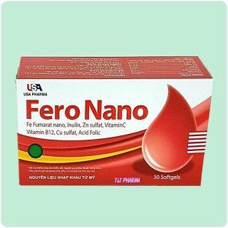 Viên Uống Bổ Sung Sắt Fero Nano Giúp Bổ Sung Sắt, Acid Folic Cho Người Thiếu Máu Não, Phụ Nữ Mang Thai Và Sau Sinh Hộp 30 Viên thumbnail