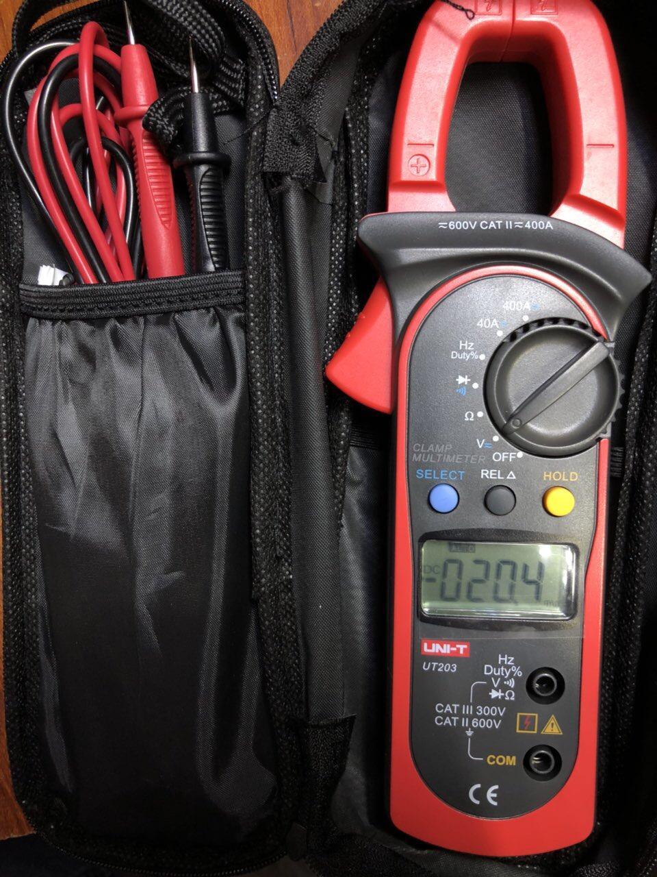Đồng hồ Ampe kìm đo dòng UNI-T UT203 AC,DC, tần số