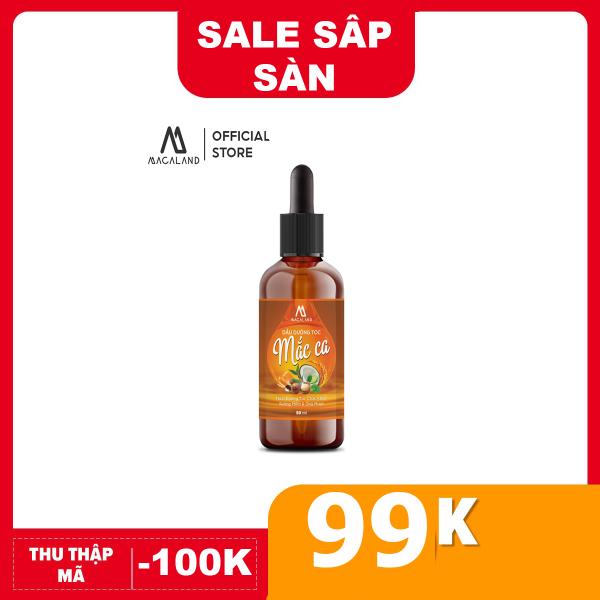 Dầu dưỡng tóc Macadamia 50ml MACALAND giúp nuôi dưỡng mái tóc bồng bềnh và chắc khỏe giảm gãy rụng