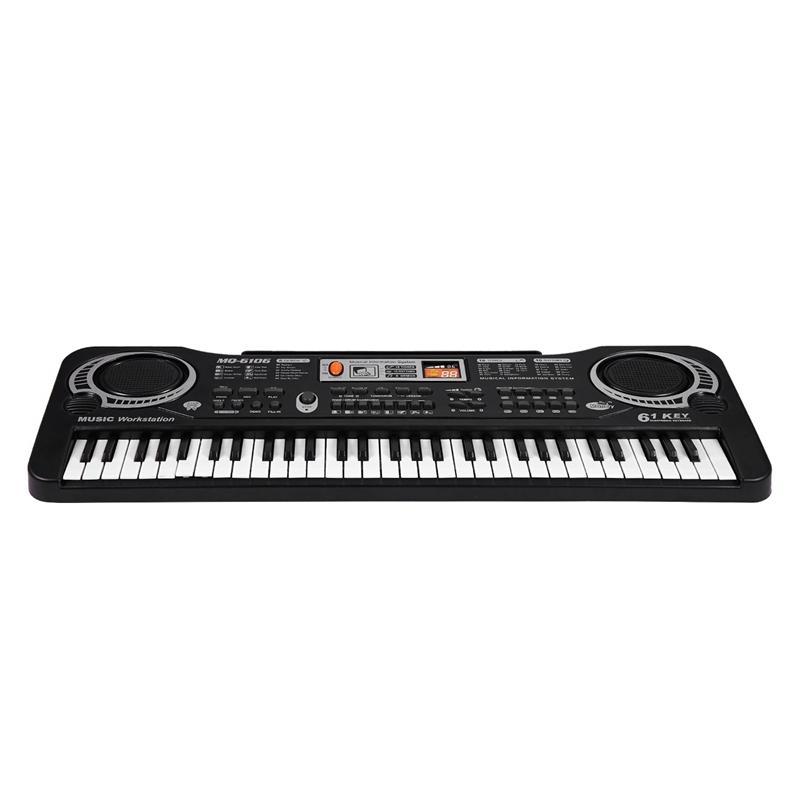 MQ 61 Keys Digital Music Electronic Keyboard Key Board Electric Piano Children Gift Eu Plug