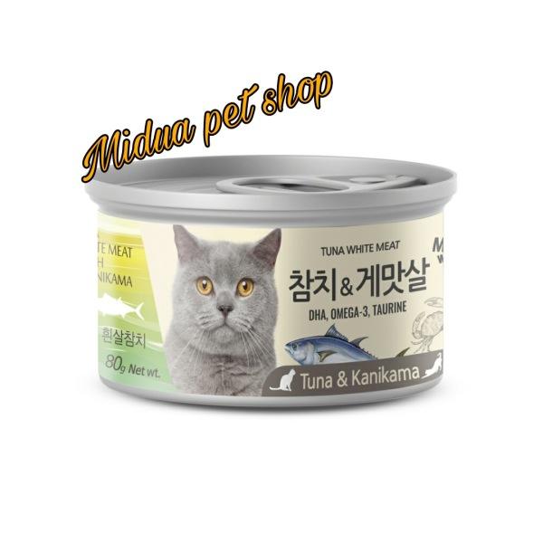 Pate meowow cá ngừ trắng đóng hộp cho mèo đủ vị