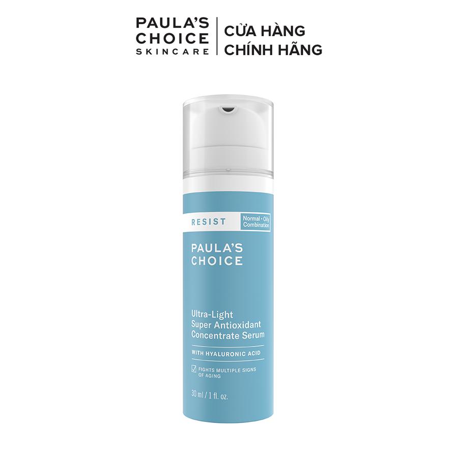 Tinh chất chống oxi hóa siêu nhẹ Paula's Choice RESIST Ultra light Super Antioxidant Concentrate serum