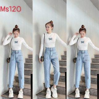 [HCM]Quần Baggy Nữ Quần Baggy Jean Nữ chất b&ograve co gi&atilden phong c&aacutech thời trang M.U_Shop. Ms120 thumbnail