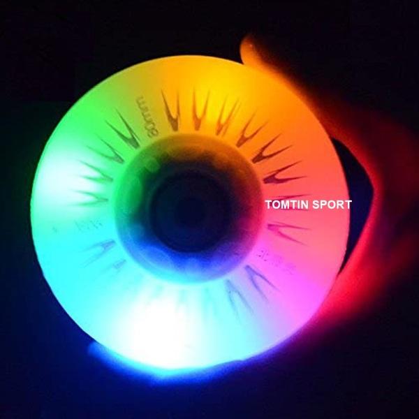 Giá bán Bánh giày patin phát sáng - Combo 2 bánh, đèn led 7 màu chất liệu cao su trượt mượt có độ trơn và êm với size bánh từ 68, 70, 72, 76, 80mm [TOMTIN SPORT]