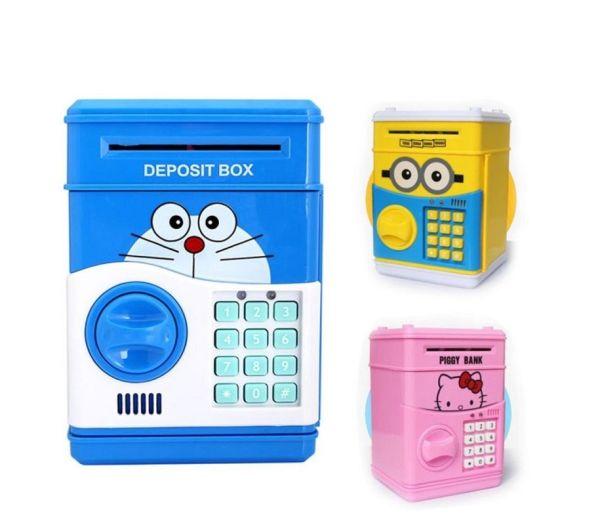 Két sắt mini thông minh tiết kiệm tiền cho bé, đồ chơi thông minh cho bé, két sắt thông minh, tiện dụng, món quà ý nghĩa cho bé