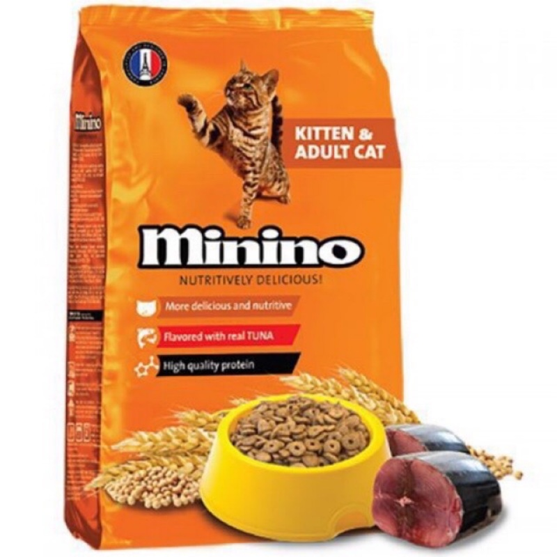 Thức Ăn Hạt Minino Cho Mèo Mọi Lứa Tuổi 480G (TUNA)