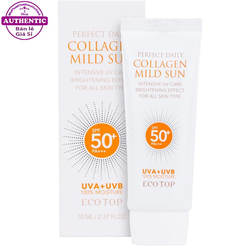 KEM CHỐNG NẮNG ECOTOP PERFECT DAILY COLLAGEN MILD SUN SPF50+/PA+++ 70ML