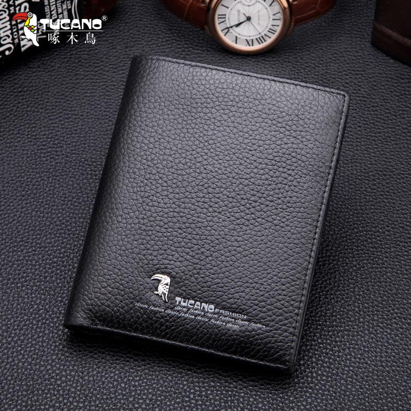 Tucano/TUCANO Mens Wallet Fashion Business Portable Leather Wallet Leather Product Youth Wallet