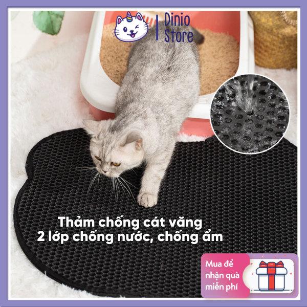 Thảm lót khay vệ sinh cho mèo Diniopet chống văng cát chống nước