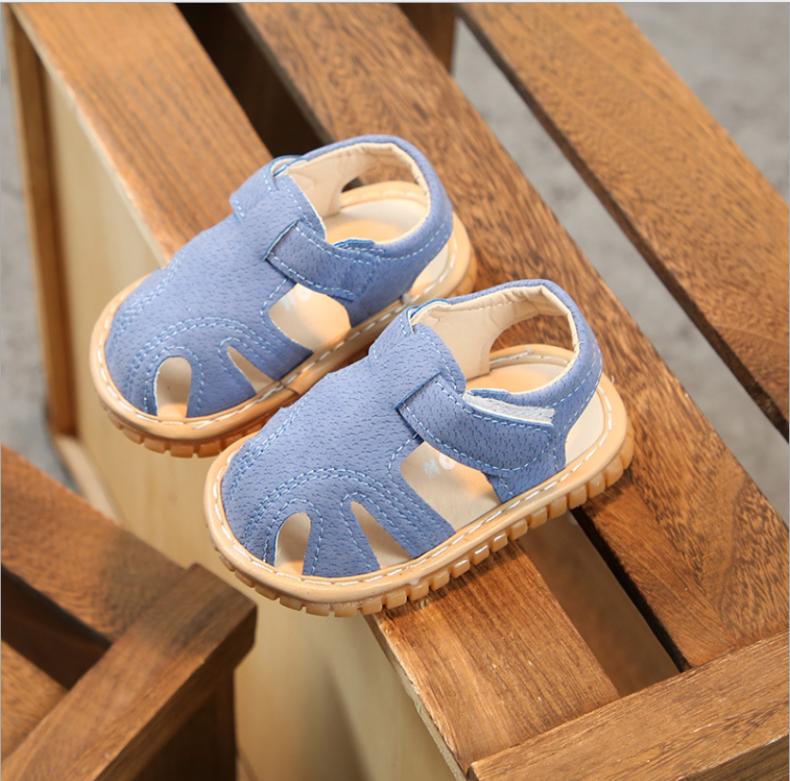 Giày sandal dễ thương cho bé mới biết đi có phát âm thanh. Giày sandal dễ thương cho bé trai tập đi. Giày đẹp cho bé 6-36 tháng. My little boss giá rẻ