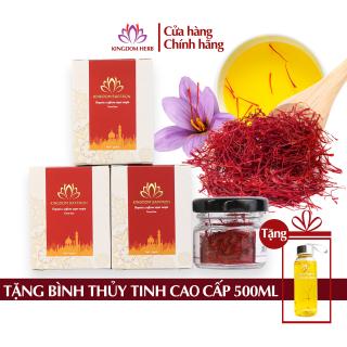 Combo 3 hộp saffron 1 gram Kingdom Herb, nhụy hoa nghệ tây Iran chính hãng loại super negin thượng hạng - 3 hộp 1 gram thumbnail