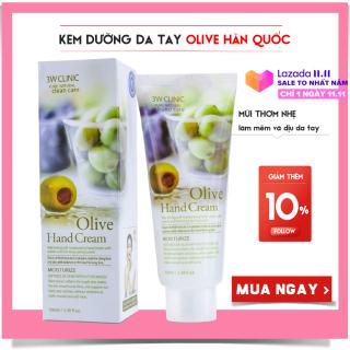Kem dưỡng da tay Olive 3W Clinic Olive Hand Cream 100ml thumbnail