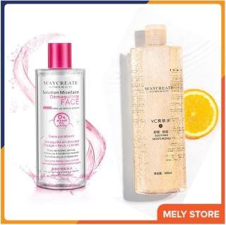 Combo nước tẩy trang + nước hoa hồng Nước tẩy trang MayCreate 300ml + Nước hoa hồng dưỡng ẩm trắng da MayCreate 500ml Melystore SPU165 thumbnail