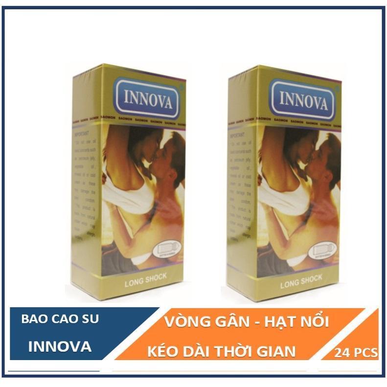 Bộ 2 hộp bao cao su INNOVA vàng siêu gân gai hộp 12c