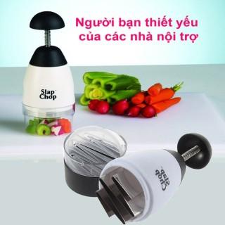 Dụng cụ xay tỏi Slap chop- Dụng cụ nhà bếp đa năng tiện dụng chất liệu nhựa và thép không gỉ cao cấp thumbnail